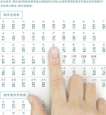 北視家協推出 全台唯一的點字桌曆,點字融合平面設計(圖:北視家協)