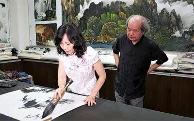 專心習畫畫家廖涵茵突破自我 發表水墨創作